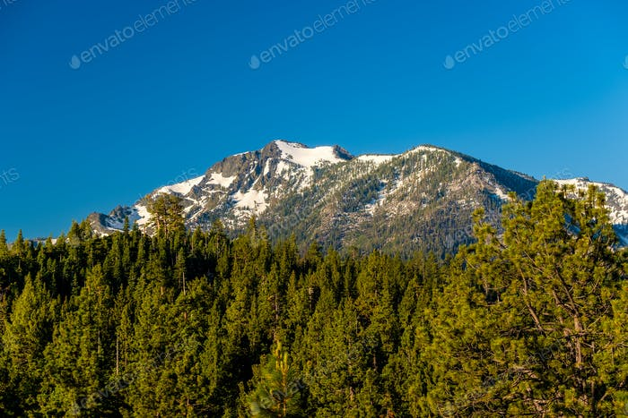 Mountain at Lake Tahoe in California