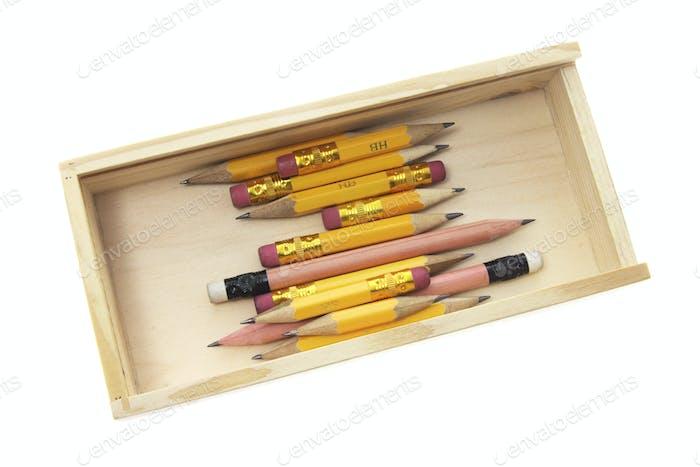 Pencils in Wooden Case