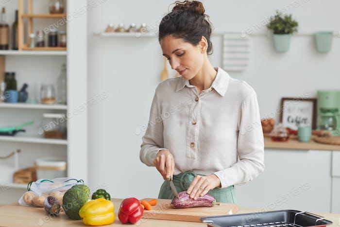 Woman preparing the dinner