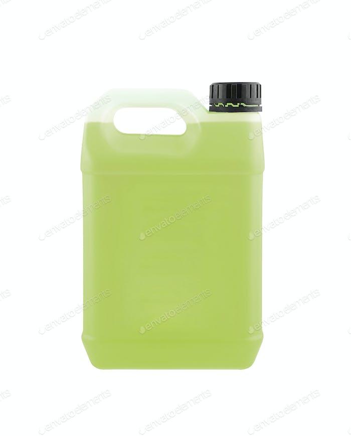 Grüne Kanister isoliert auf weiß