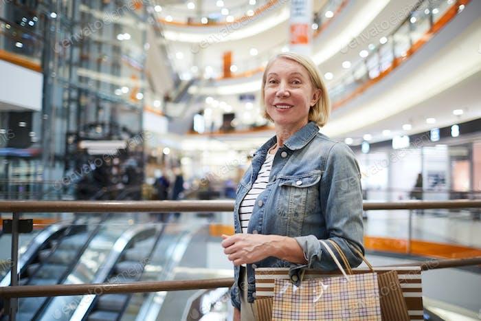 Mature lady enjoying shopping