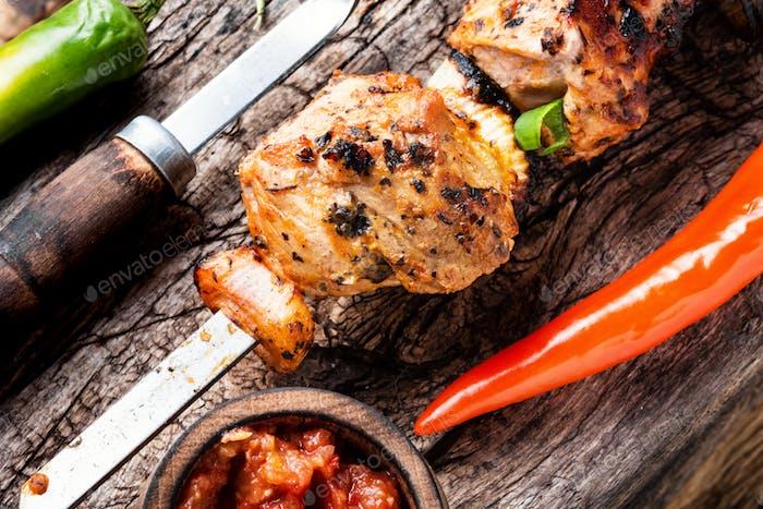 Kebab or shashlik