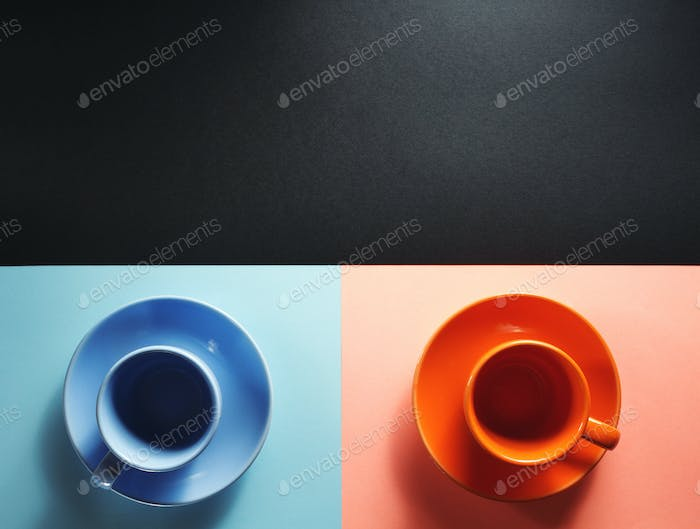 cup of coffee at abstract  background