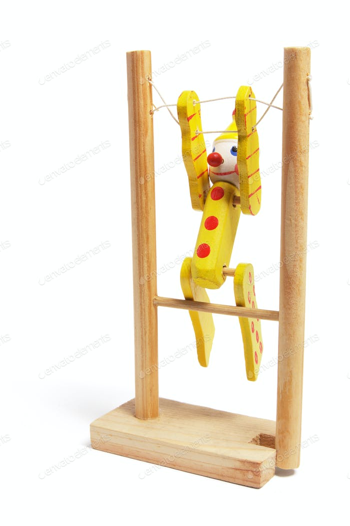 Wooden Toy Gymnast