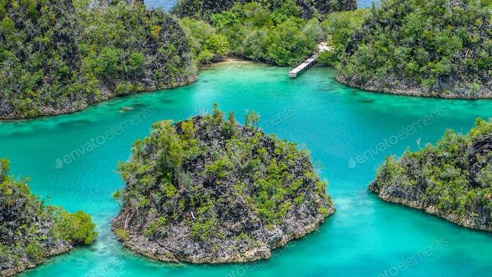 Pianemo Island, Blue Lagoon, Raja Ampat, West Papua, Indonesia