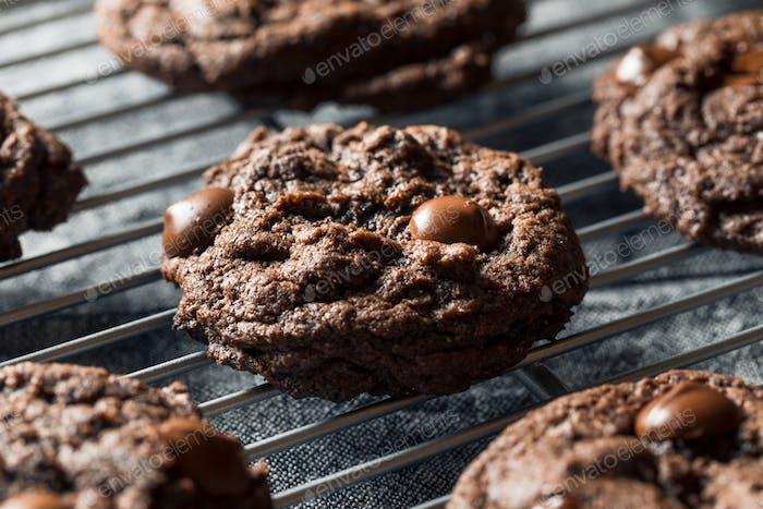 Homemade Dark Double Chocolate Chip Cookies