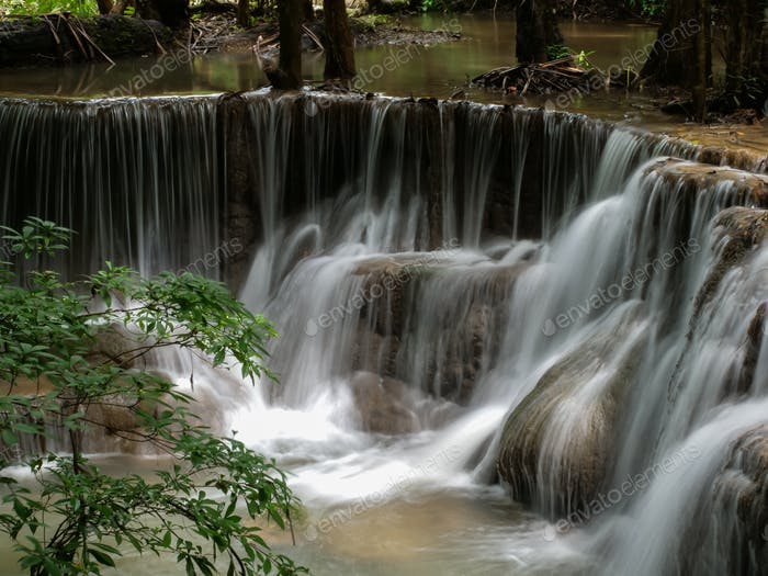 Waterfall that is a layer in Thailand