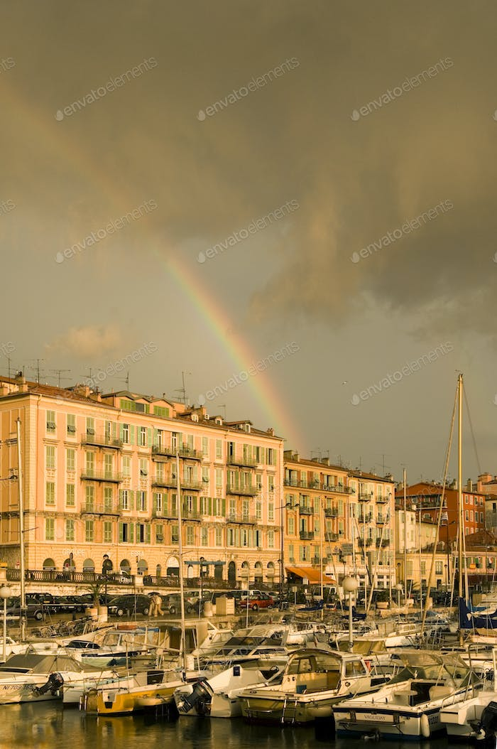 Port of Nice after the storm