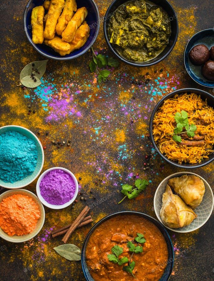 Indisches Holi Essen
