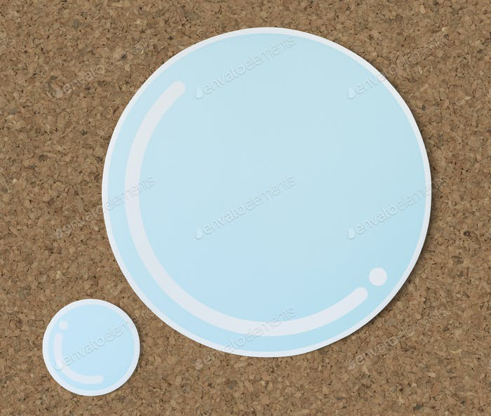 Bubble water cut out paper icon