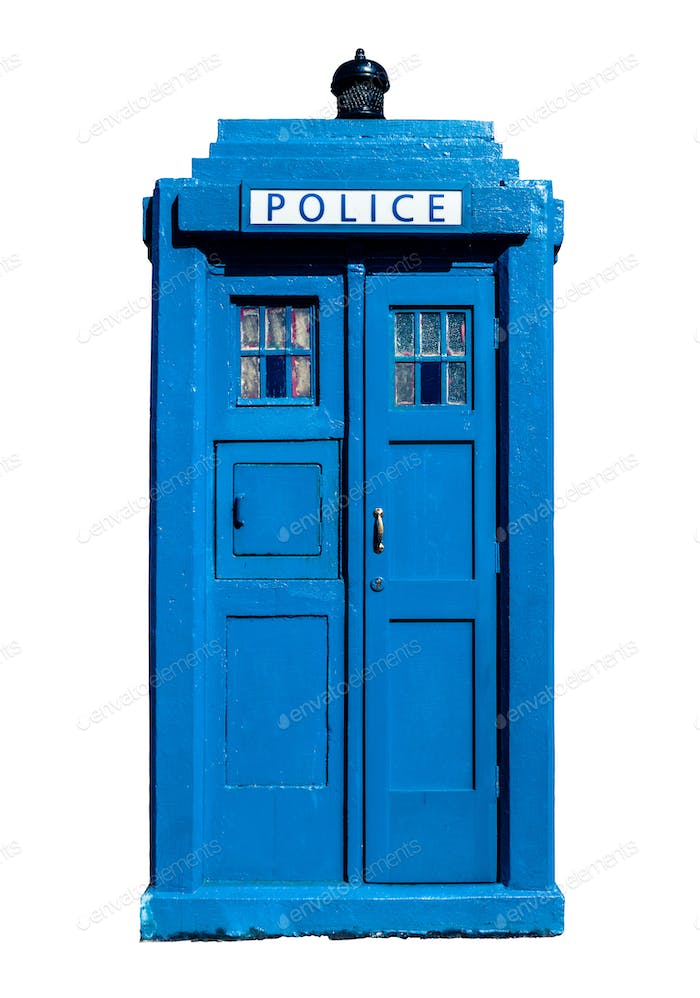 Blue UK Police Box