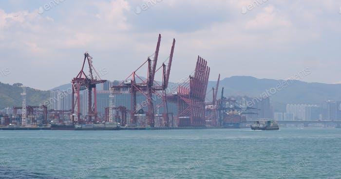 Kwai Tsing, Hong Kong, 02 May 2018:- Kwai Tsing Container Terminal