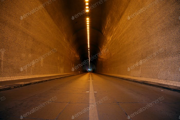 Endless tunnel in Budapest