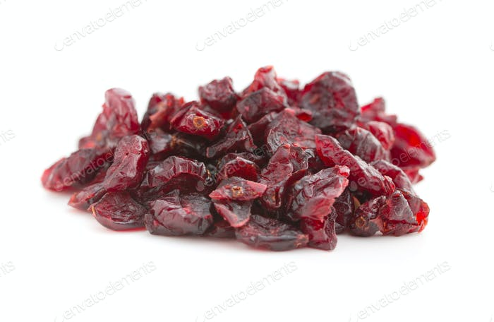 Tasty dried cranberries.