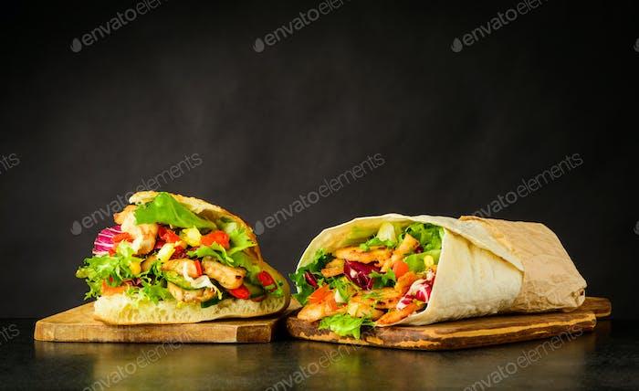 Kebap and Shawarma Sandwich