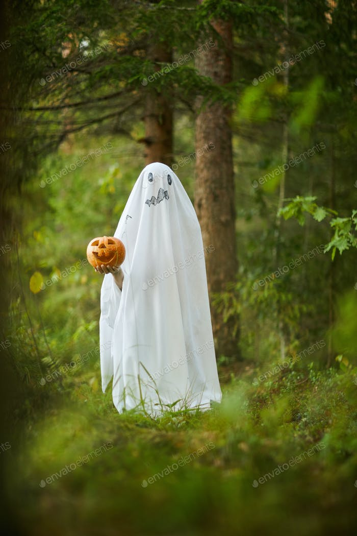 Ghost on Halloween