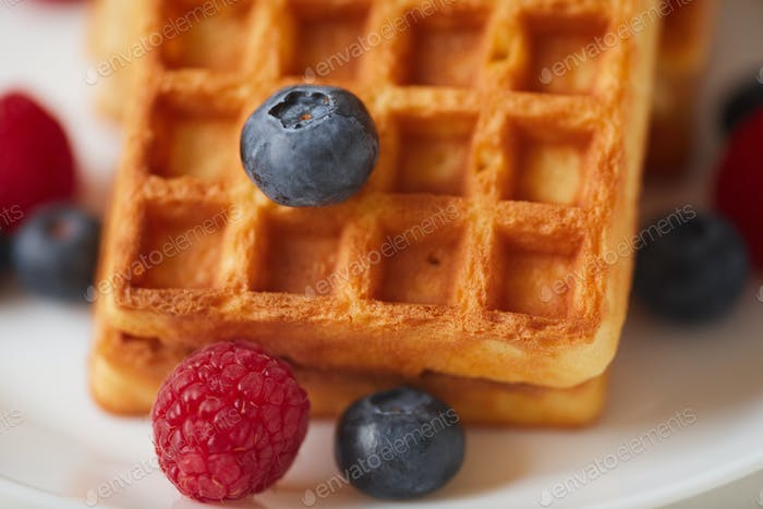 Delicious Berry Waffles