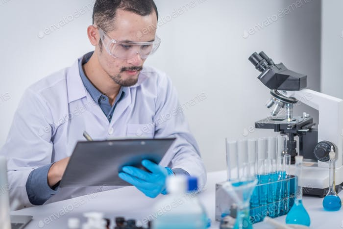 Researchers are analyzing data to create scientific innovations. Modern education
