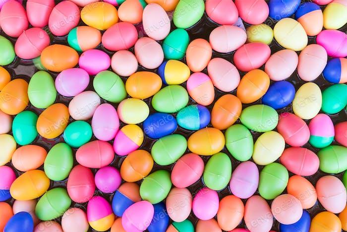 Bunte Kunststoff-Eier Spielzeug-5