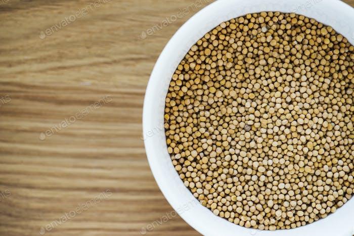 Closeup of coriander seed