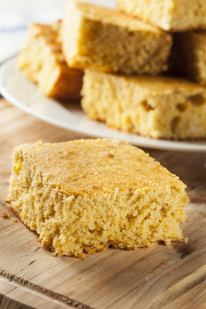Golden Organic Homemade Cornbread