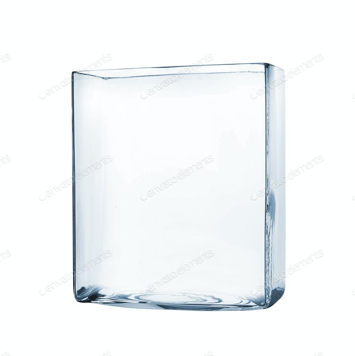 Empty aquarium isolated on white