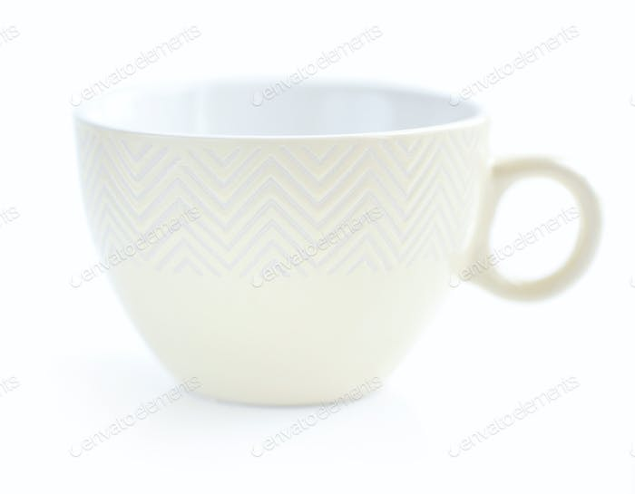 Teacup on white background