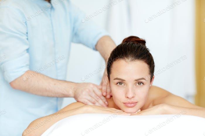 Enjoying massage
