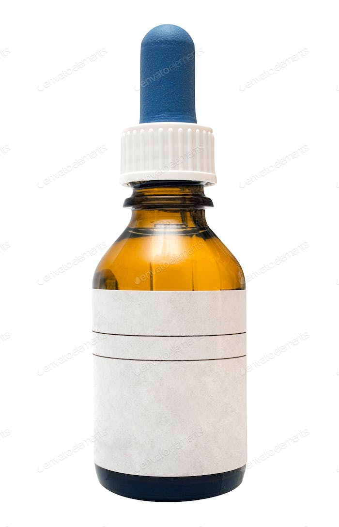 Medicine Bottle with Clipping Path Isolated on a White Background