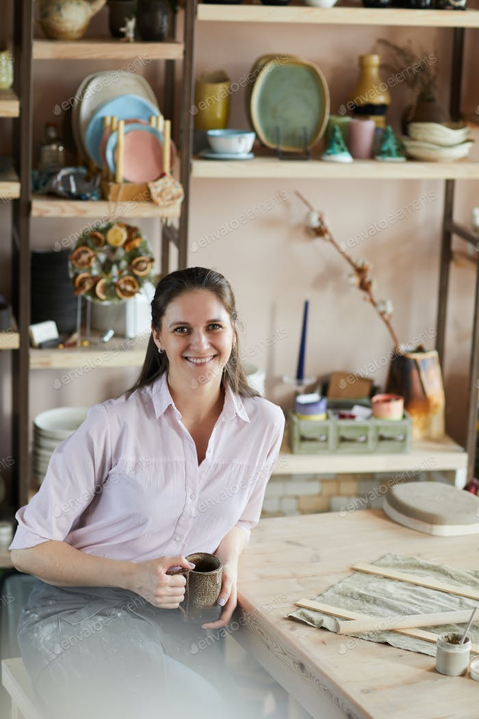 Smiling Female Artisan