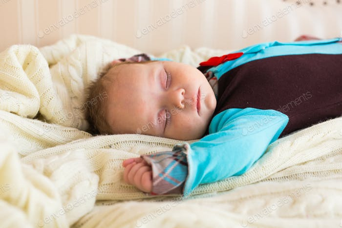 infant baby boy sleeping