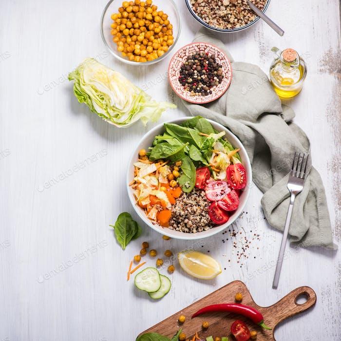 Quinoa Salad with Chickpeas, Vegan Snack