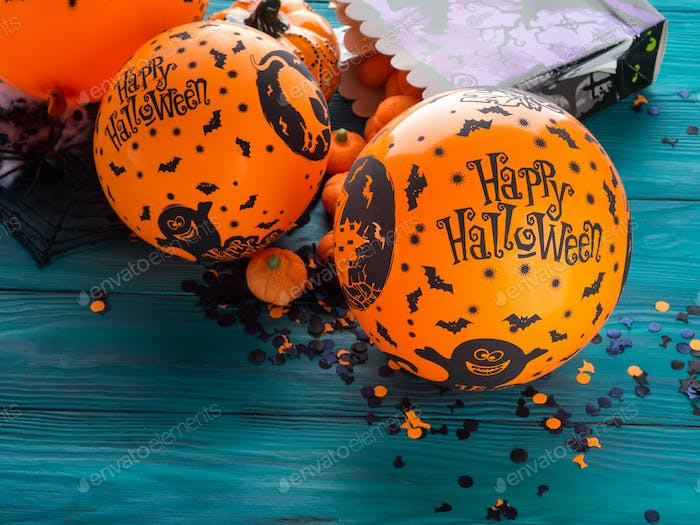 Halloween-Party Balllooons und Dekorationen