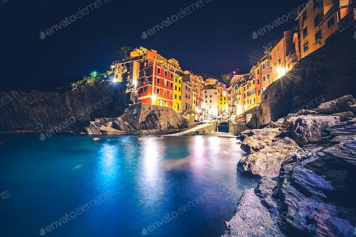 Riomaggiore Night Scene
