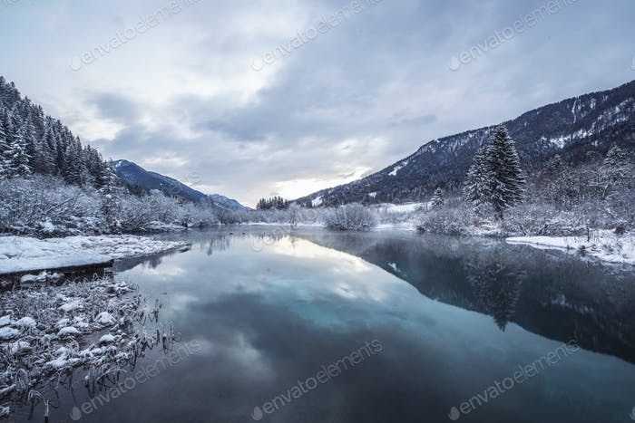 Purple Sunrise at the spring of Zelenci