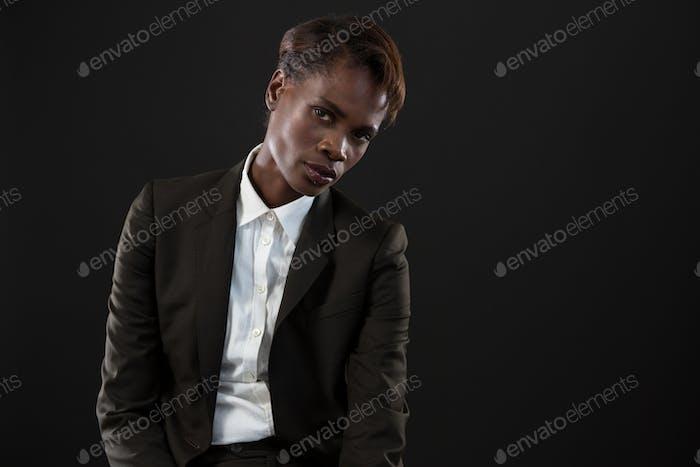 Androgynous man posing
