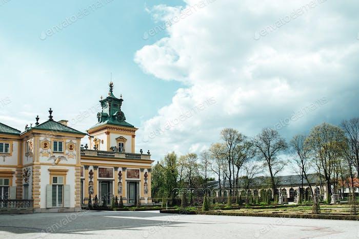 Alter antiker Palast Wilanow in Warschau