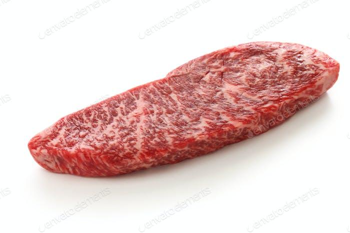 raw wagyu beaf, Japanese food isolated on white background