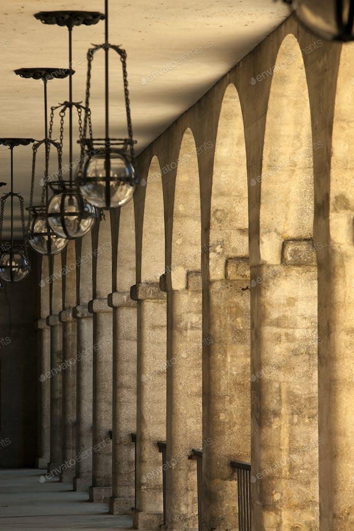 Colonnade at the Lightner Museum, Florida.