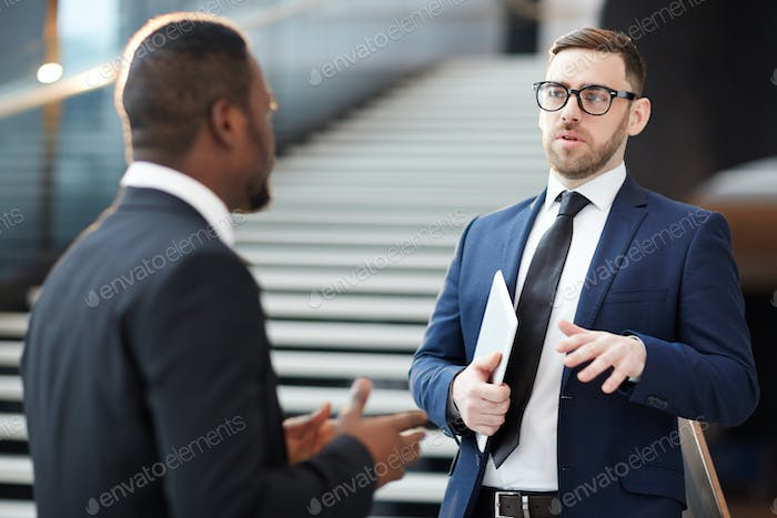 Talking to colleague