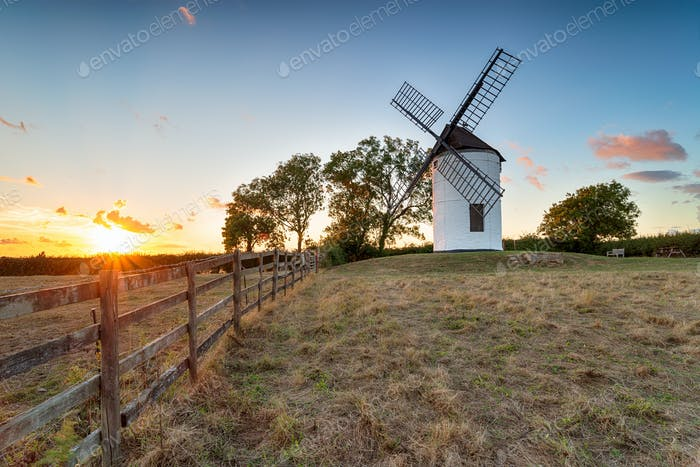 Sunset at Ashton Mill in Somerset