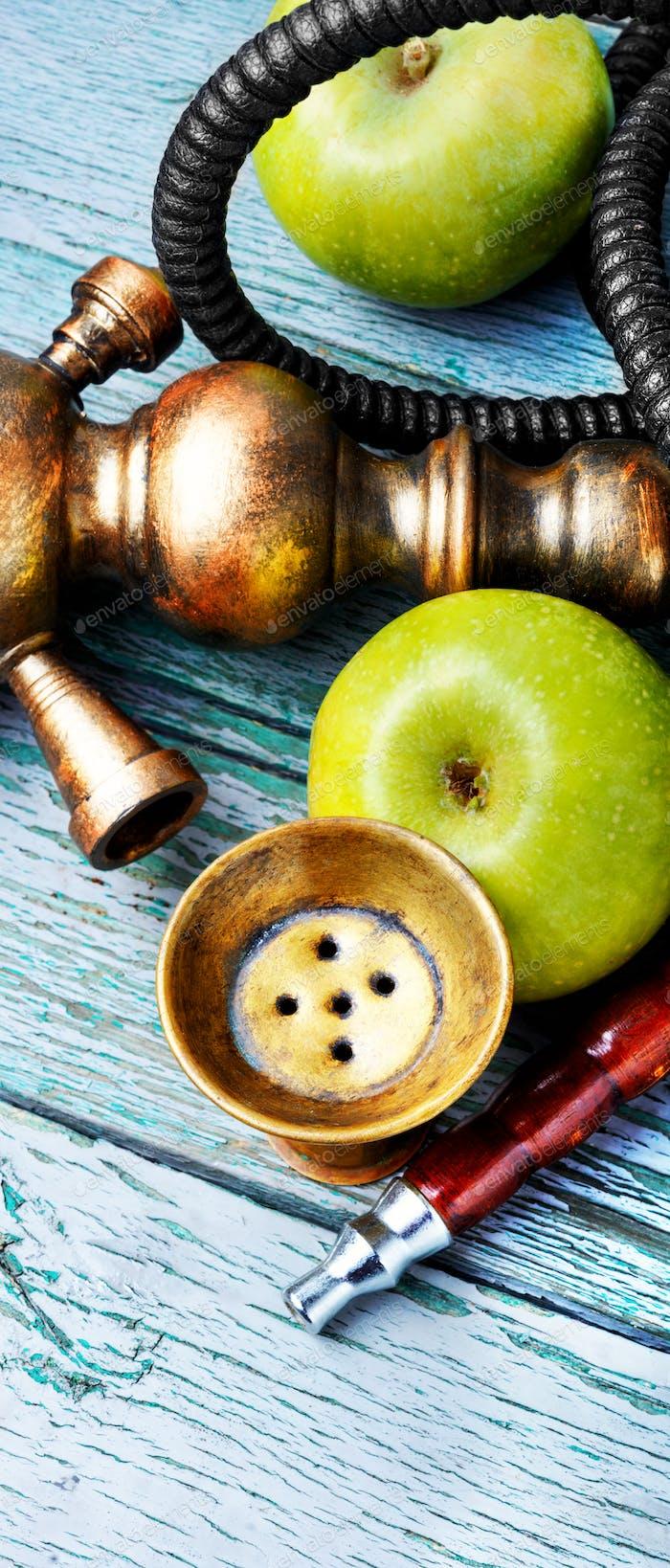 Stylish asian shisha with green apple