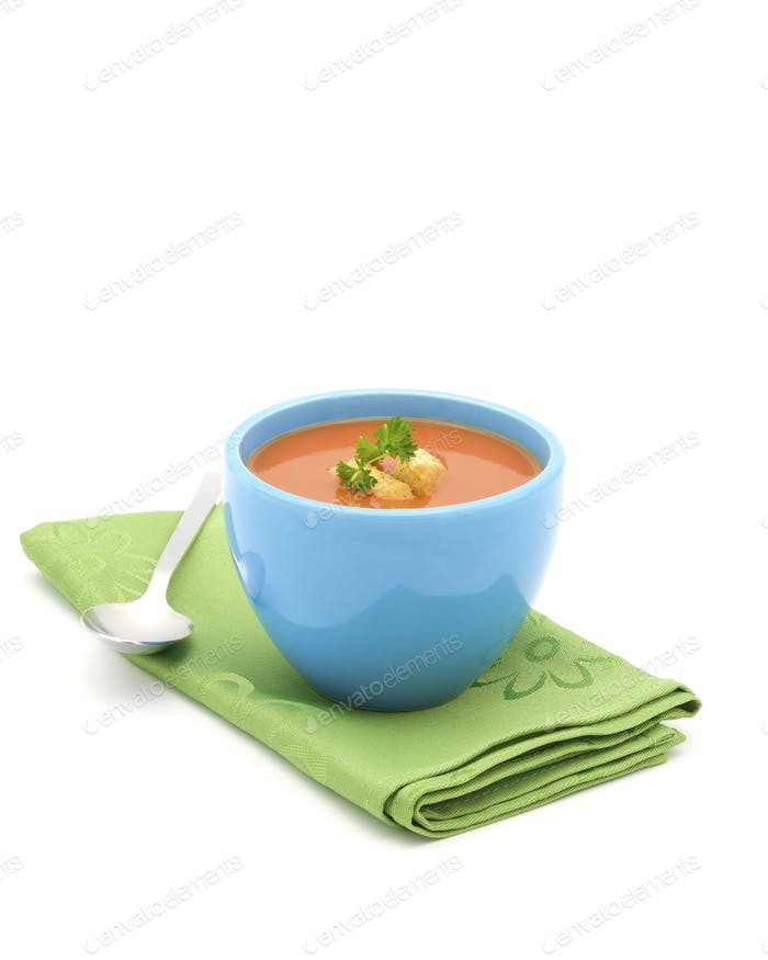 Tomatensuppe Blue Bowl