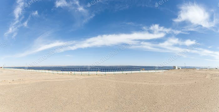 solar energy panorama on the gobi desert