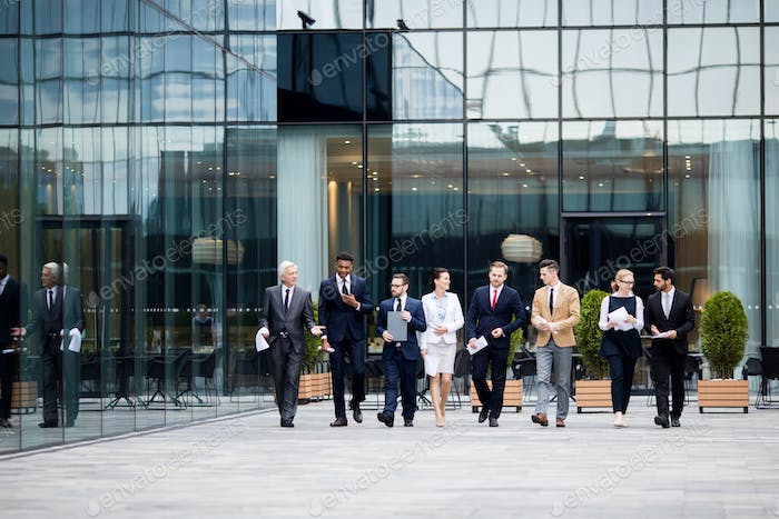 Business people outside