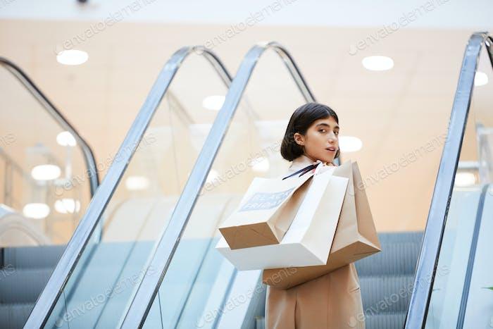 Beautiful Woman in Shopping Mall