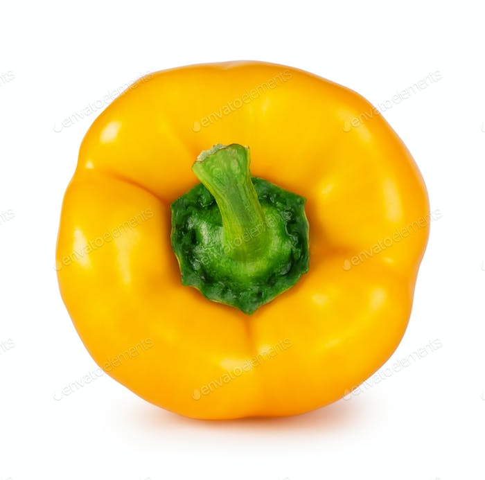 Yellow sweet pepper shot from the front