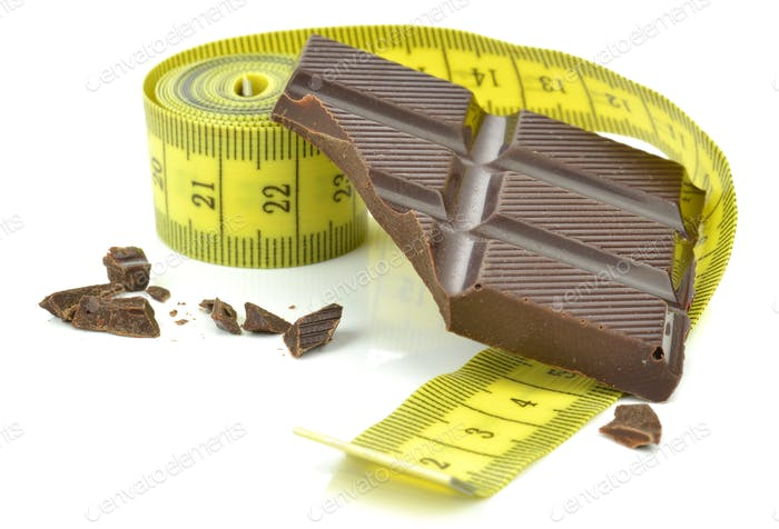 Measuring Tape and Chocolate