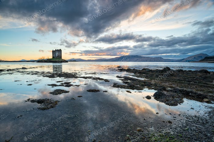 Sundown over Castle Stalker