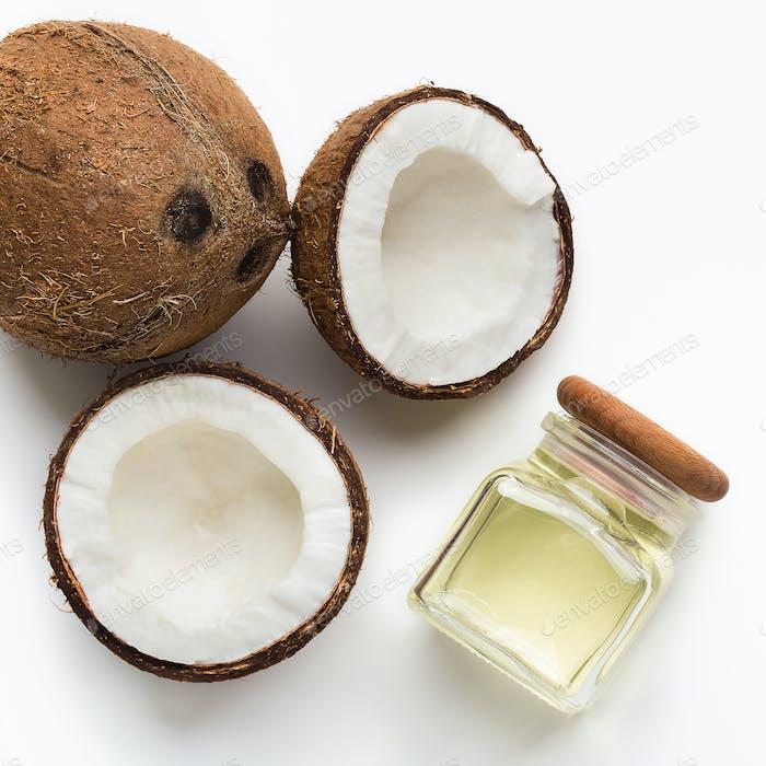 Organic coconut oil concept